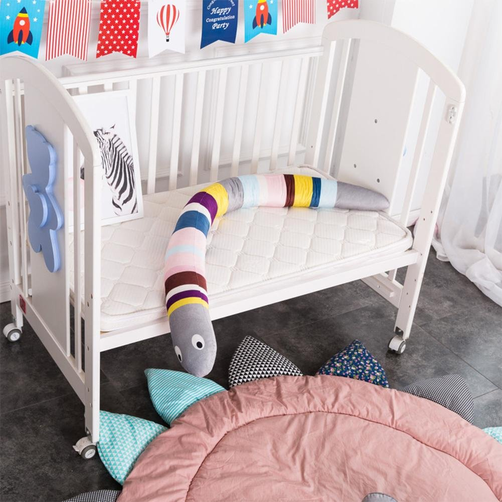 Jannyshop 6 Pcs Cotton Baby Breathable Crib Bumper Pads for Standard Cribs