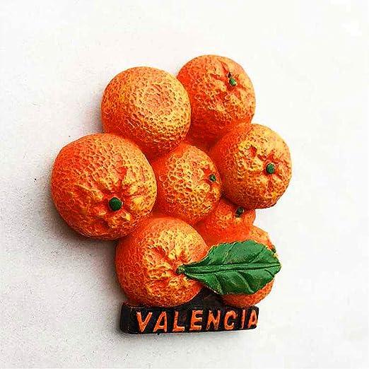 Hqiyaols Souvenir Naranja Valencia España Refrigerador 3D ...
