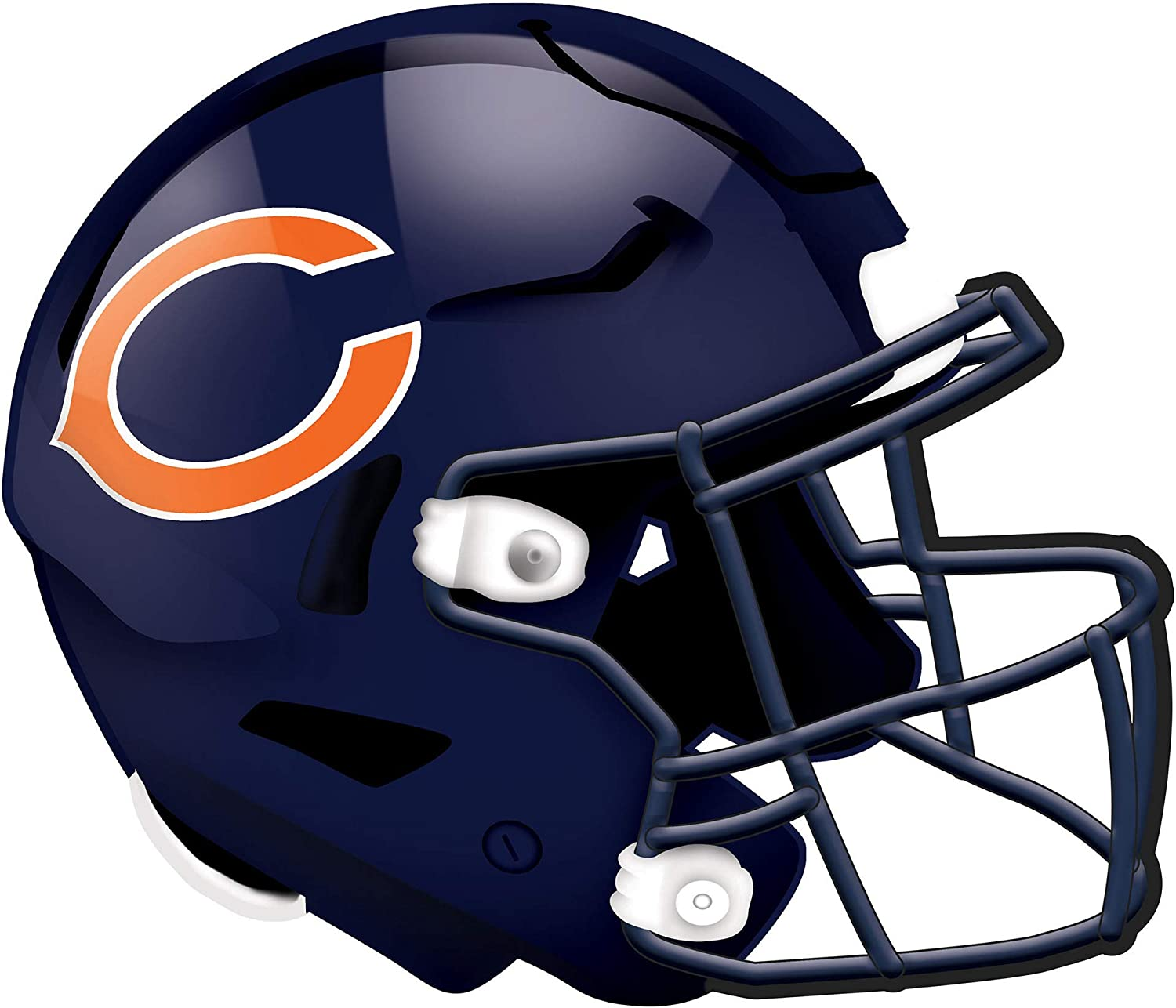 Fan Creations NFL Chicago Bears Unisex Chicago Bears Authentic Helmet, Team Color, 12 inch