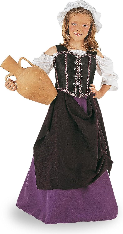 Limit Sport - Disfraz de tabernera medieval para niña (MI239 ...