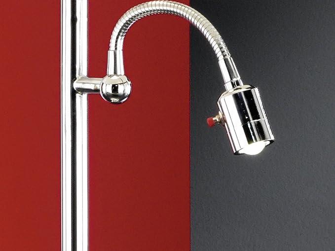Metall, chrom, E27, 2-flammig Honsel Tischleuchte Lebon 51412