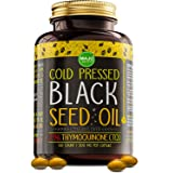 MAJU's Black Seed Oil Capsules - Cold Pressed, 3X% Thymoquinone, 100% Turkish Black Cumin Nigella Sativa Seed Oil, Organic BS