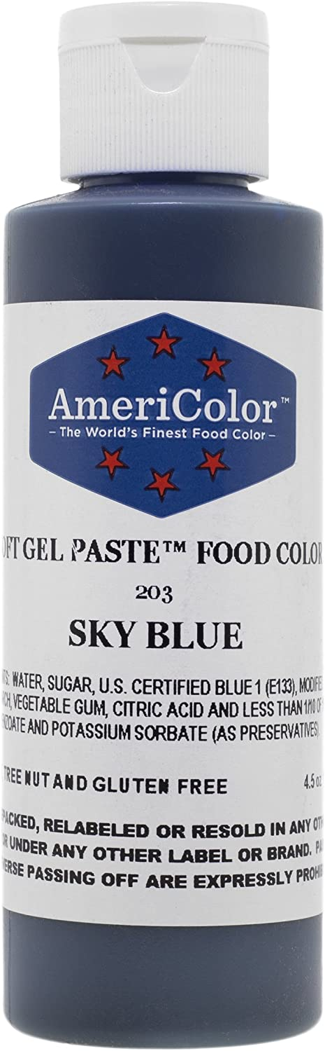 Americolor Soft Gel Paste Food Color, 4.5-Ounce, Sky Blue