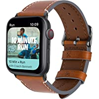 Fullmosa 8 Colors for Apple Watch Band 40mm 44mm, Vintage Calf Leather for Apple Watch Series 4, AppleWatchNike+ Series 4 Band iWatch Strap