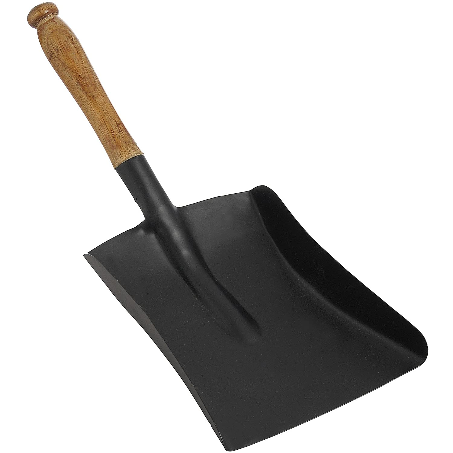 Hill Interiors Steel Shovel with Wooden Handle (One Size) (Black) UTHI864_1