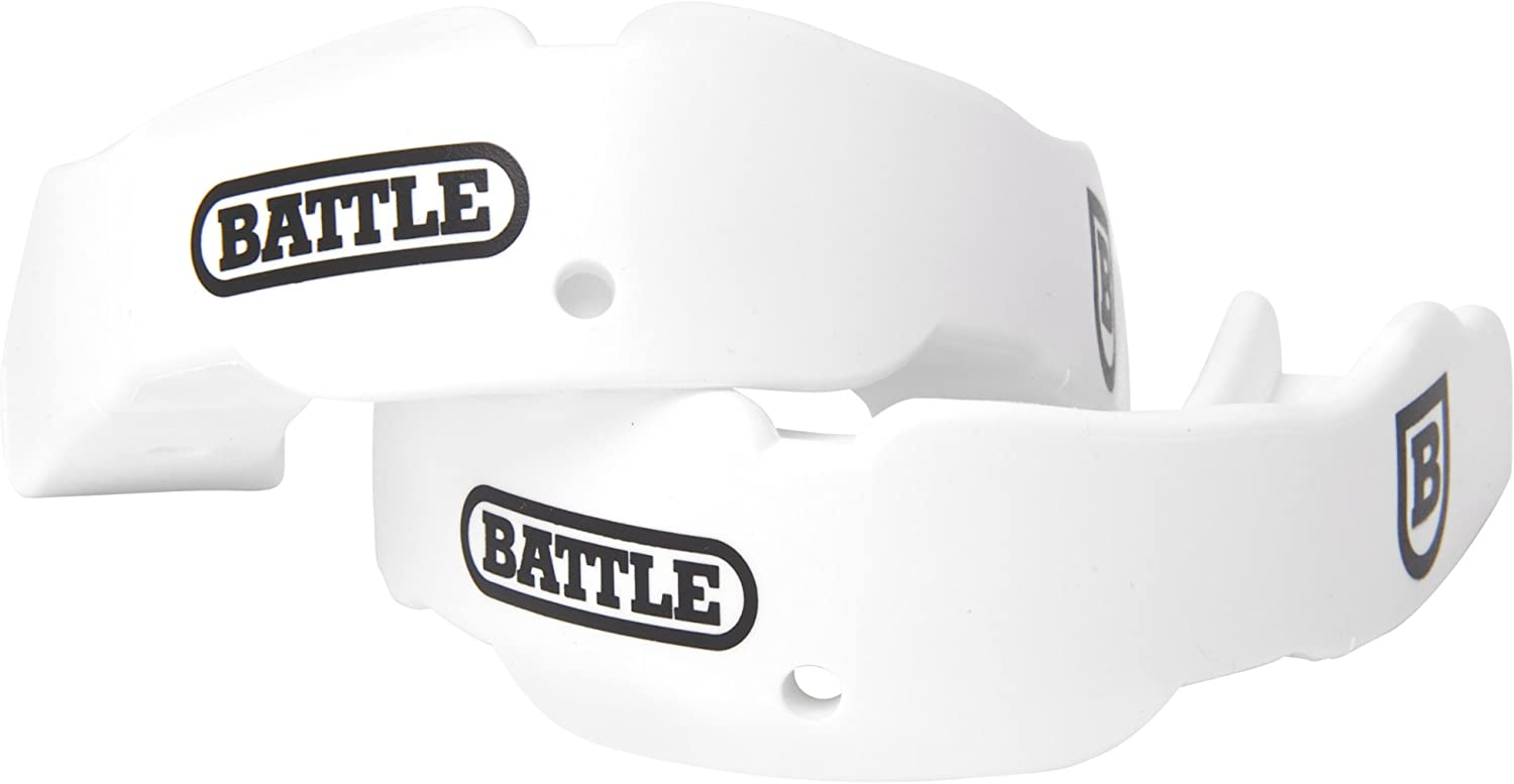 Battle Sports Science 2 Color Adult Mouthguard (2-Pack), White : Clothing