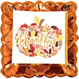 Thankful Deluxe Fall Party Dinnerware Bundle - 3 Items: Dinner Plates, Dessert Plates, Large Napkins