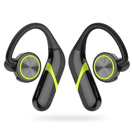 GSPON Auriculares Bluetooth Deportivos Auriculares Estéreo Cancelación de Ruido Suavizado Auricular para Running Gym