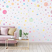 264 Pieces Polka Dots Wall Sticker Circle Wall Decal for Kids Bedroom Living Room, Classroom, Playroom Decor Removable…