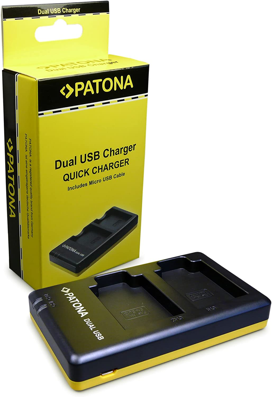 PATONA Cargador Doble para EN-EL12 Bateria Compatible con Nikon CoolPix AW100 S8100 S8200 S9400 S9500