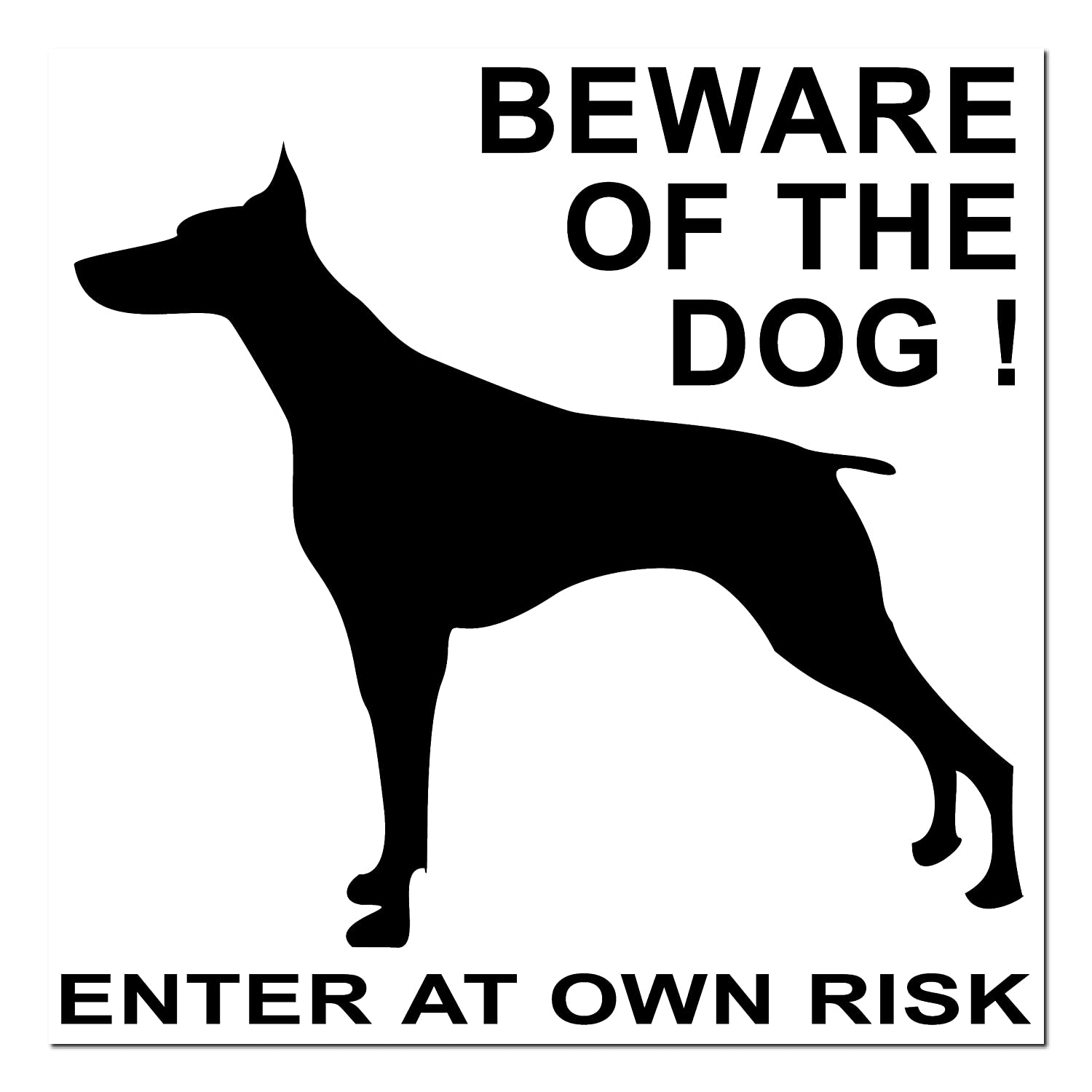 "Sticker "" Beware of the Dog Enter At Own Risk"" , 10 cm GreenIT"