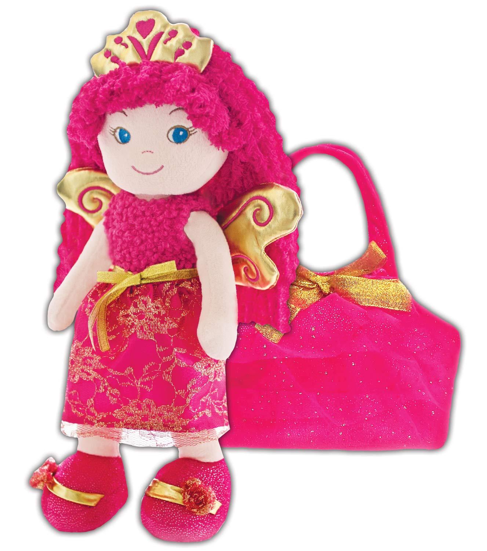 Dark Pink//Fushia girlzndollz Baby Doll with Purse