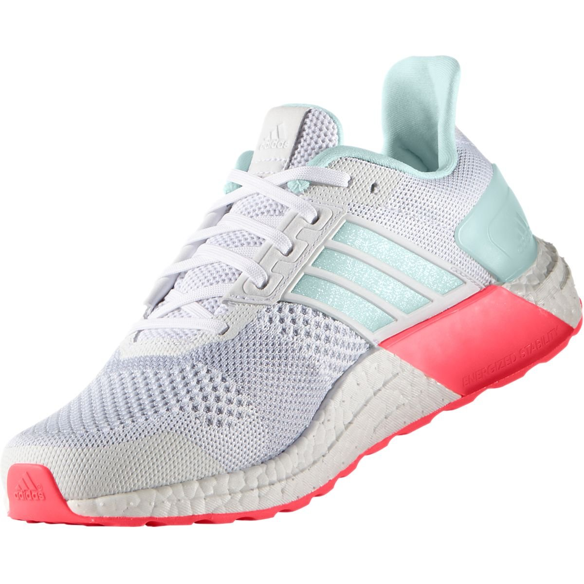 buy popular 40cc7 bf108 Galleon - Adidas Women s Ultra Boost ST W Running Shoe, White Ice Mint Shock  Red S, 11 M US