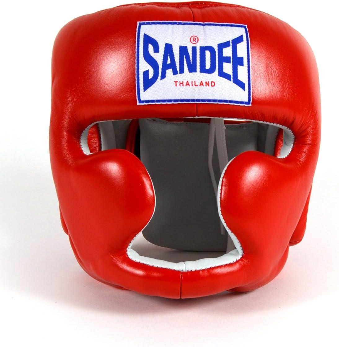 Sandee geschlossen Face Kopfschutz aus Leder