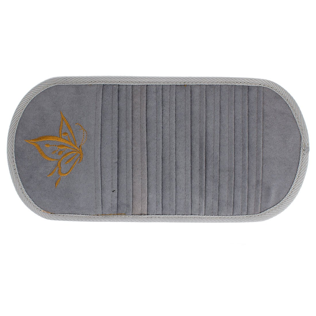 Car Gray Butterfly Print 12 Slots CD Ticket Cards Holder Storage Case