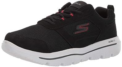 082cc1f9e43e Skechers Men s GO Walk Evolution Ultra-Enhance Sneaker Black Red 7 Extra  Wide US
