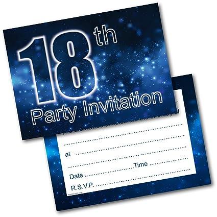 Doodlecards - Invitaciones para fiesta de 18 cumpleaños (20 ...