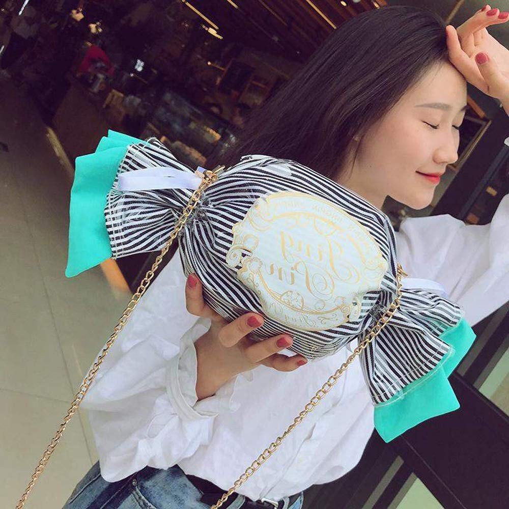 3 Colors Optional //-// PU Small Fresh and Lovely Personality Harajuku Style Chain Candy Shape Girl Soft Sister Messenger Bag Cute Color : Pink DDSS Shoulder Bags