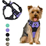 VavoPaw Dog Vest Harness, No Pull Design Pet Soft Padded Reflective Leash Chest Harness with Adjustable Strap for Various Siz