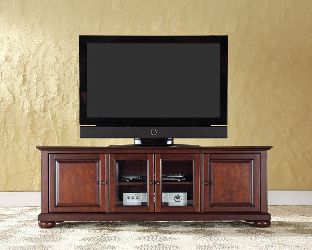 flatscreen tv stands crosley furniture alexandria 60inch low profile with tv view - Flat Panel Tv Stands