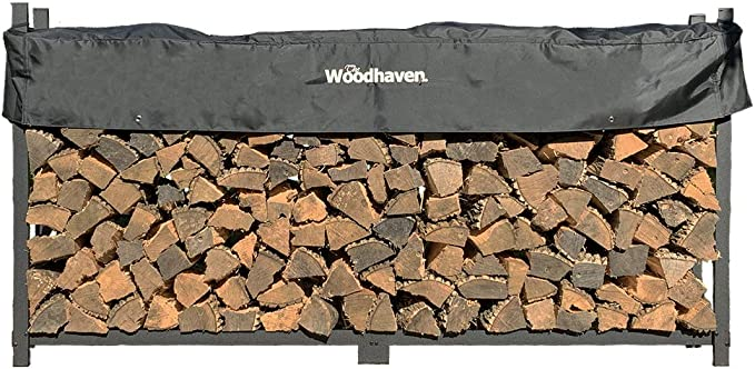 Woodhaven The 8-Foot Firewood Log Rack with Cover