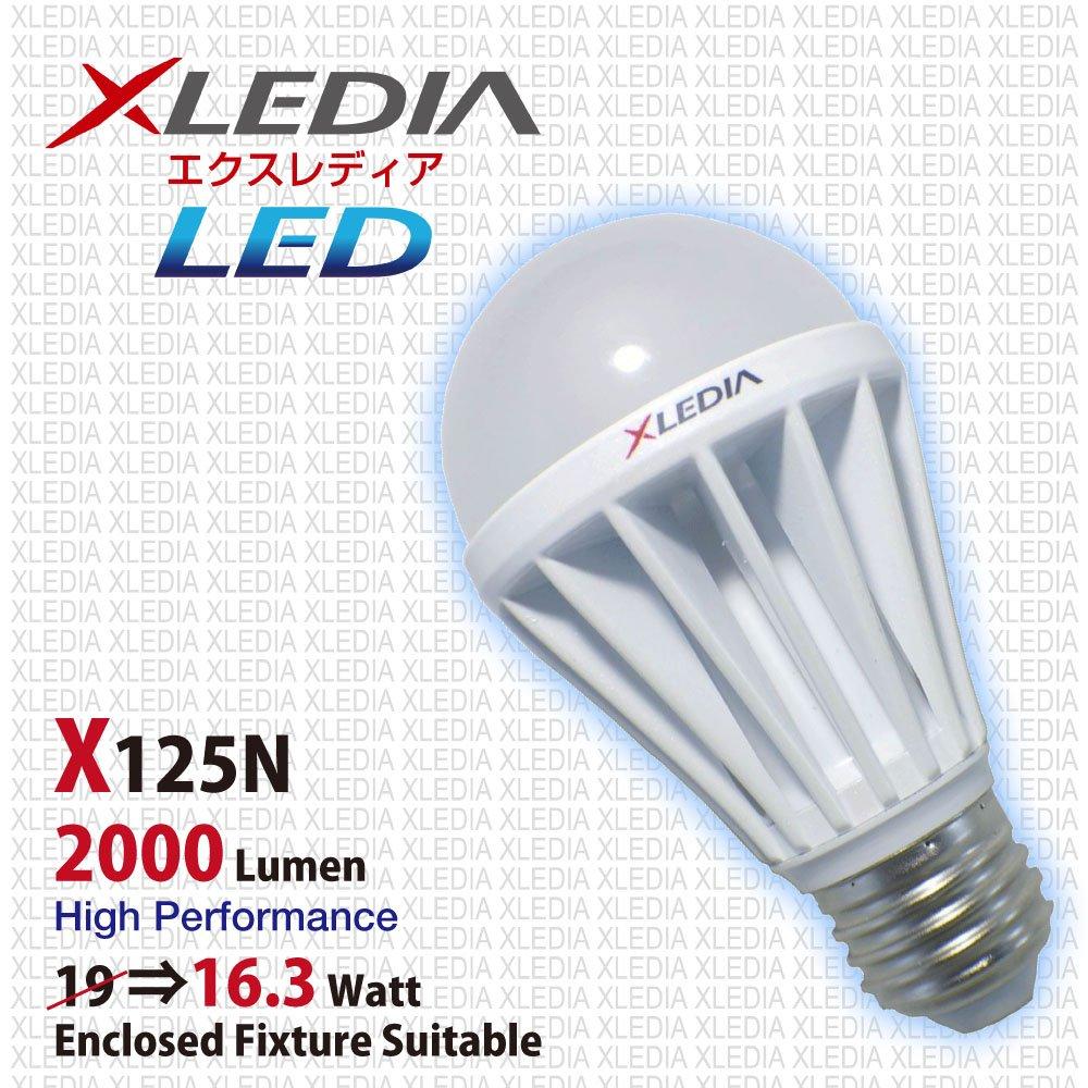 Xledia led light bulb x125n a19 125w equivalent 2000 lumen cool xledia led light bulb x125n a19 125w equivalent 2000 lumen cool white enclosed fixture suitable led household light bulbs amazon arubaitofo Image collections