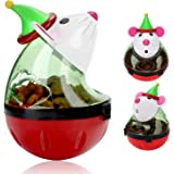 Legendog Cat Christmas Toy, Santa Claus Tumbler Mouse Cat Feeder Toy, Interactive Cat Toys, Cat Puzzle Toy, Christmas…
