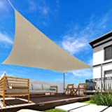 Windscreen4less 5' x 9' Sun Shade Sail Rectangle Canopy in Beige with Commercial Grade Customized Size