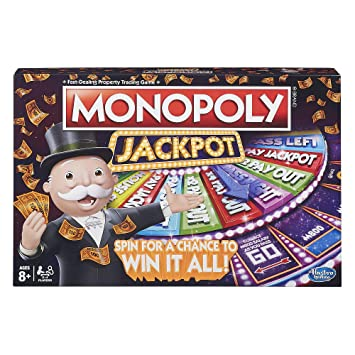 Amazon Com Fun Gaming Monopoly Jackpot Spinner Board Game For Kids