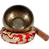 "Rovtop 3.74""/9.5 cm Tibetan Singing Bowl Set for Meditation Chakra Healing, Prayer ,Yoga, and Healing Through Vibration Buddhism Singing Bowl"