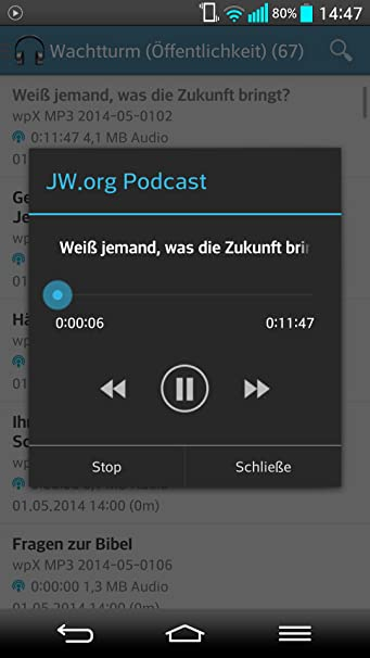 Amazon JWorg Podcast Deutsch Appstore For Android