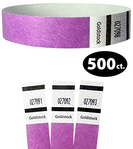 WristCo Purple 3//4 Tyvek Wristbands 200 Pack Paper Wristbands for Events