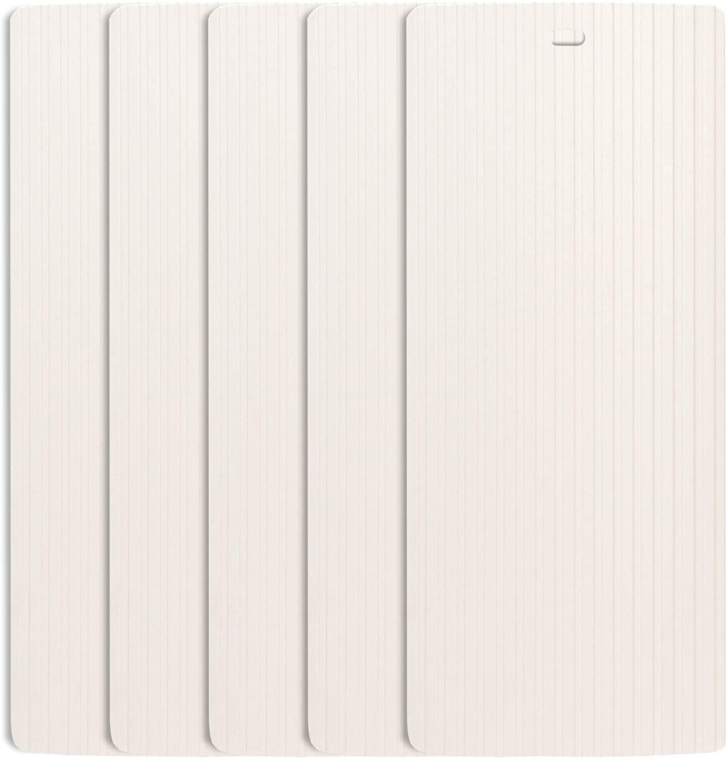 """DALIX Ribbed Window Replacement Blinds Vertical Slats Ivory 82.5"""" Window 5 Pack"""
