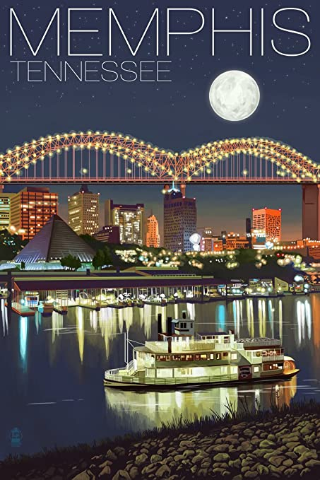 Image result for memphis skyline at night