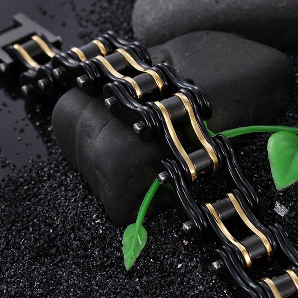 Men Stainless Steel Bracelet Bicycle Bracelet Wide Link Rock Punk Motorcycle Chain Mens Jewelry Wristband