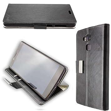 caseroxx funda tipo libro para Vernee Apollo Lite, Carcasa con flip para el smartphone (flip case en negro)