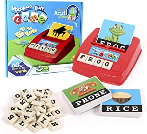 Matching Letter Spelling Game Sight Words Flash Cards Preschool Learning Educational Toys for Toddler Age 3-6, Alphabet Homeschool Games Birthday Christmas Xmas Gifts for 3-6 Year Old Boys Girls Toys