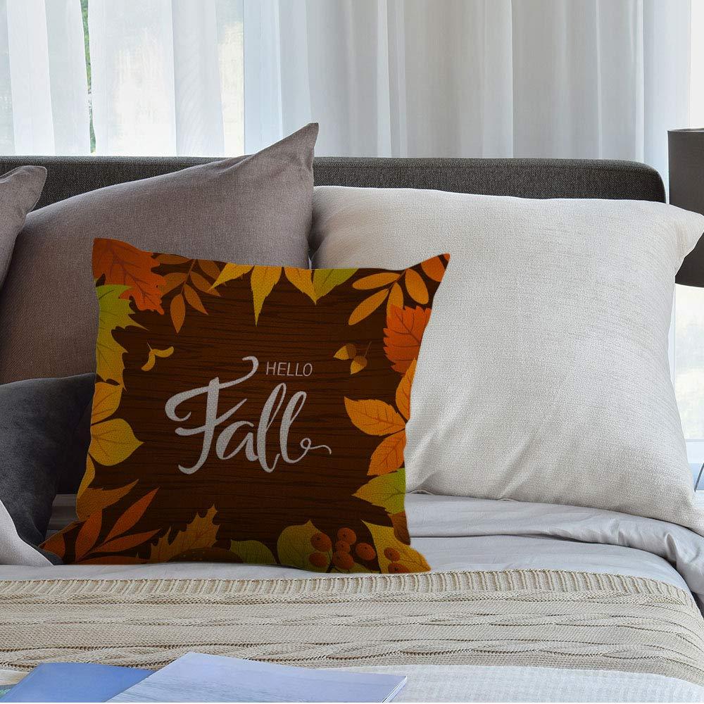 HGOD DESIGNS Throw Pillow Case Vintage Flower Print Cotton Linen Square Cushion Cover Standard Pillowcase for Men Women Home Decorative Sofa Armchair Bedroom Livingroom 18 x 18 inch