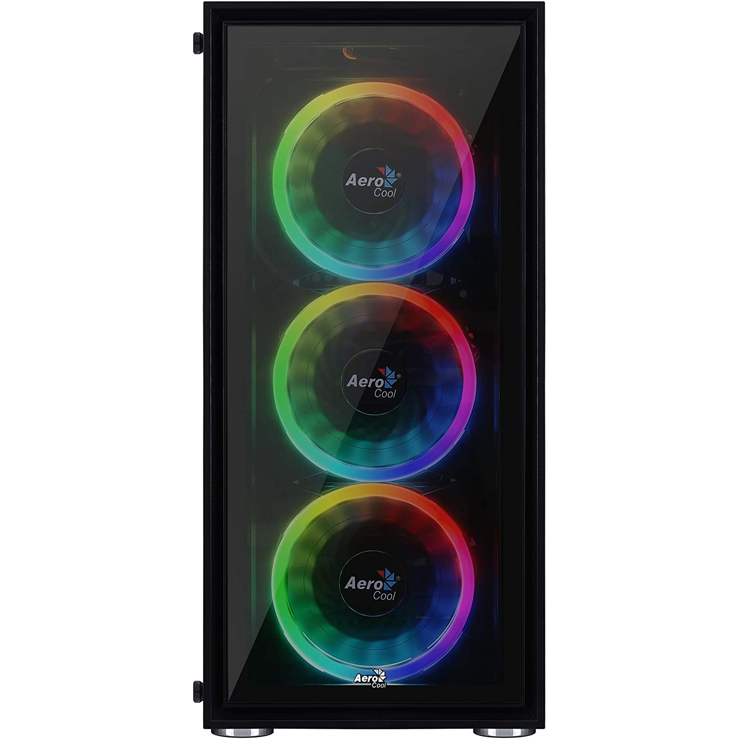 AeroCool V3X Pc Gaming Case 1 x 80Mm Fan Included For High-End Graphics and Gaming Black Window R gb Lighting Mid-Tower Atx