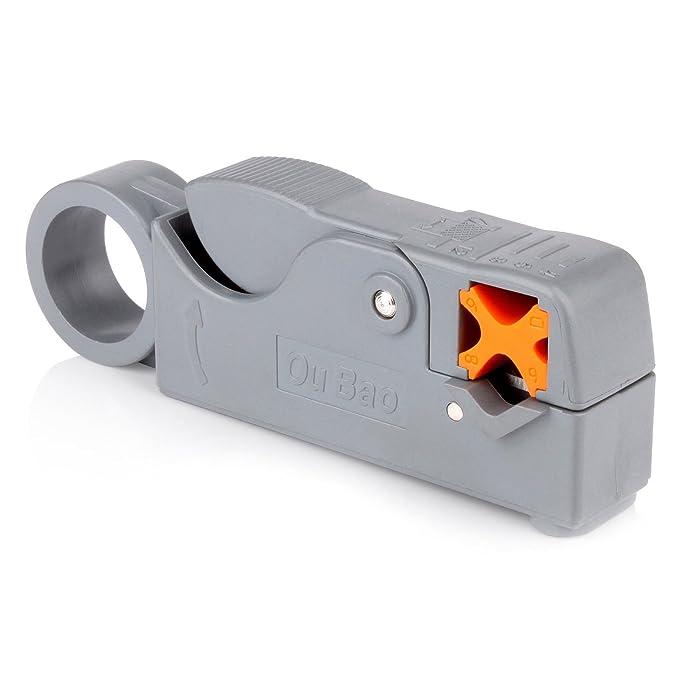 Pasow Universal compresión para Conector Herramienta Pelacables RG6 F BNC RCA Conector Cable Coaxial crimpadora Fitting: Amazon.es: Electrónica