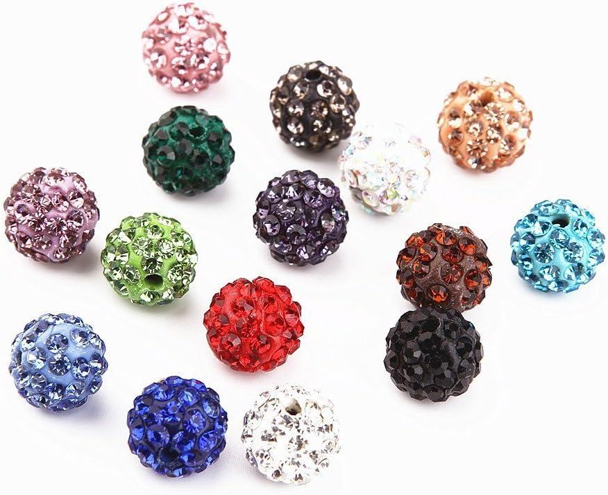 Beads Perlen Glitzer Disko Kugel Bead Kristallkugel Armband basteln ILOVEDIY 20 Stk