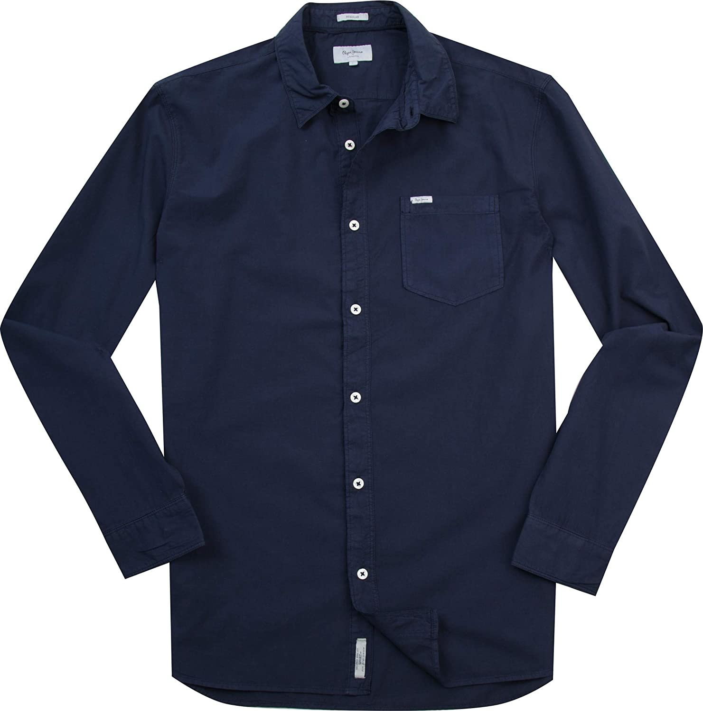 Pepe Jeans Moringa Camisa, Azul (Sailor), 40 (Talla del ...