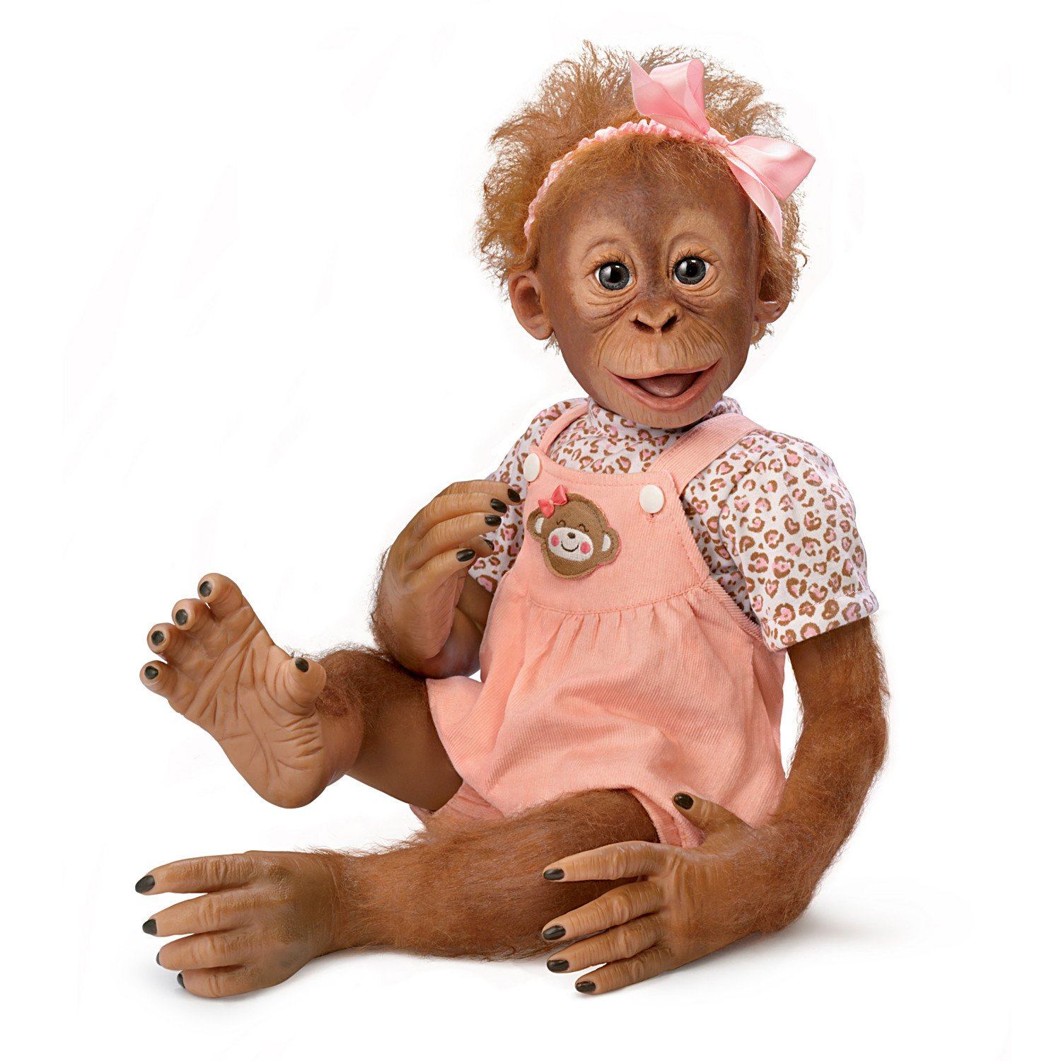 Realistic Baby Monkey Doll by Ina Volprich Holds Every Pose by The Ashton-Drake Galleries