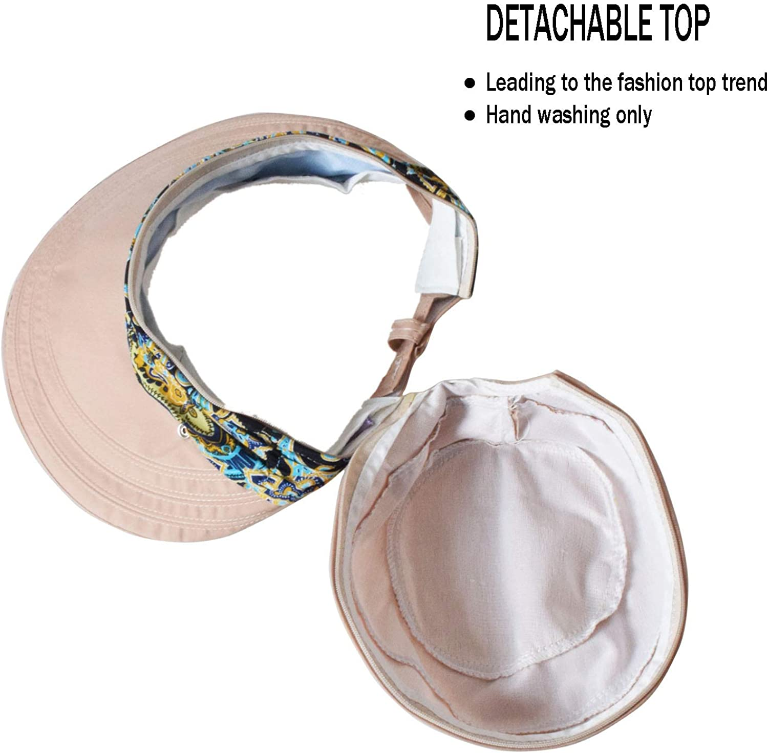 WITERY Floppy Summer UPF50 Foldable Sun Beach Hats Accessories Wide Brim for Women