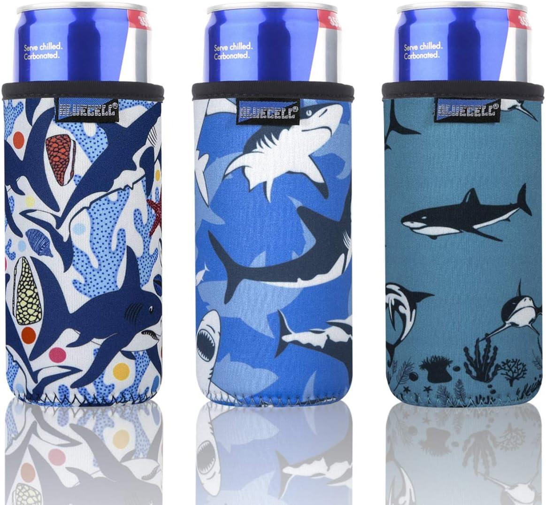 Mandala Pattern Bluecell Pack of 3 Neoprene Insulators Mandala Pattern Beer Can Sleeves Fit for 12oz Slim Drink Beer Cans 3pcs