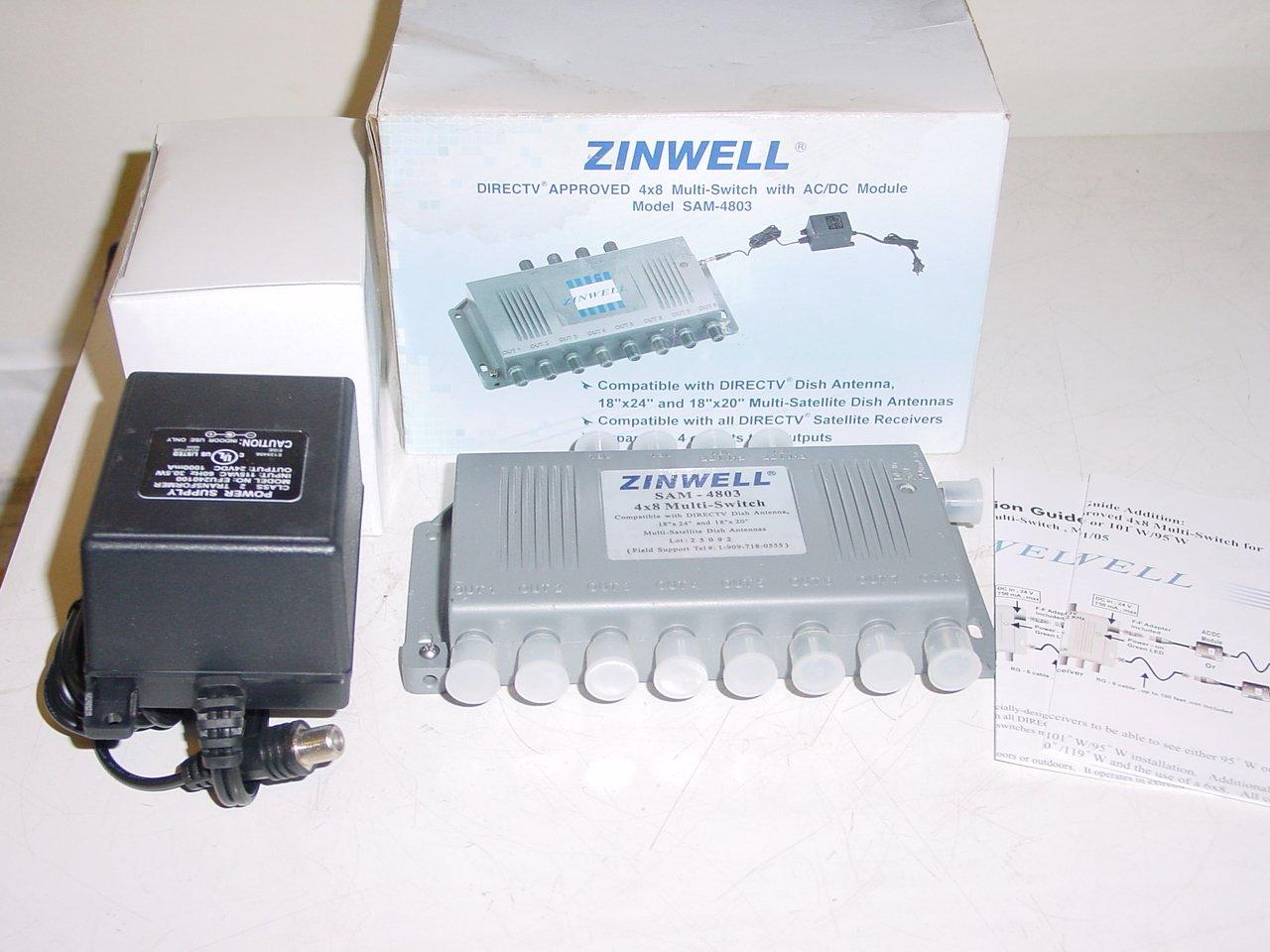 amazon com zinwell 4x8 multi switch ac dc module model amazon com zinwell 4x8 multi switch ac dc module model ms4x8wb z computers accessories