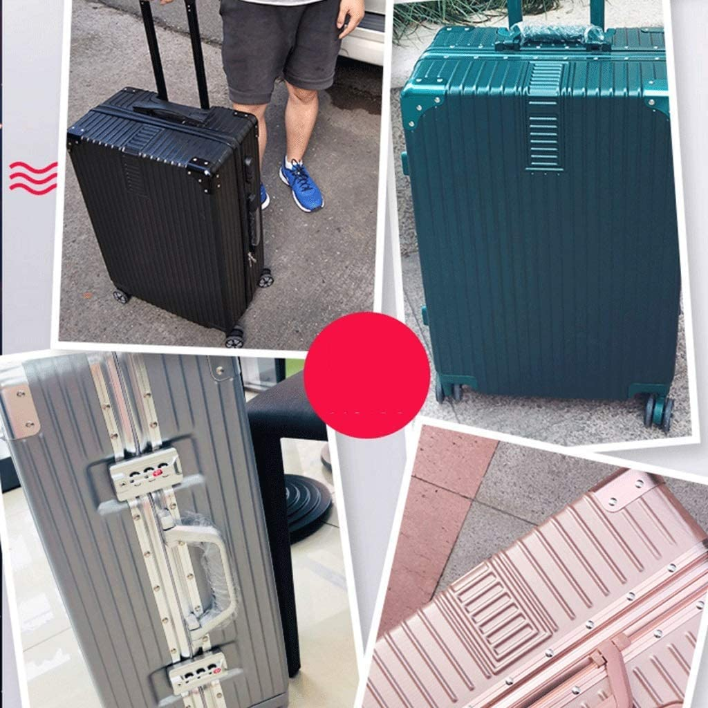 Color : Black, Size : 26 inches HUANGA Suitcase Luggage Aluminum Frame Trolley Case Universal Wheel 20 Student Shared Password Box 24 Boxes 26 Inch