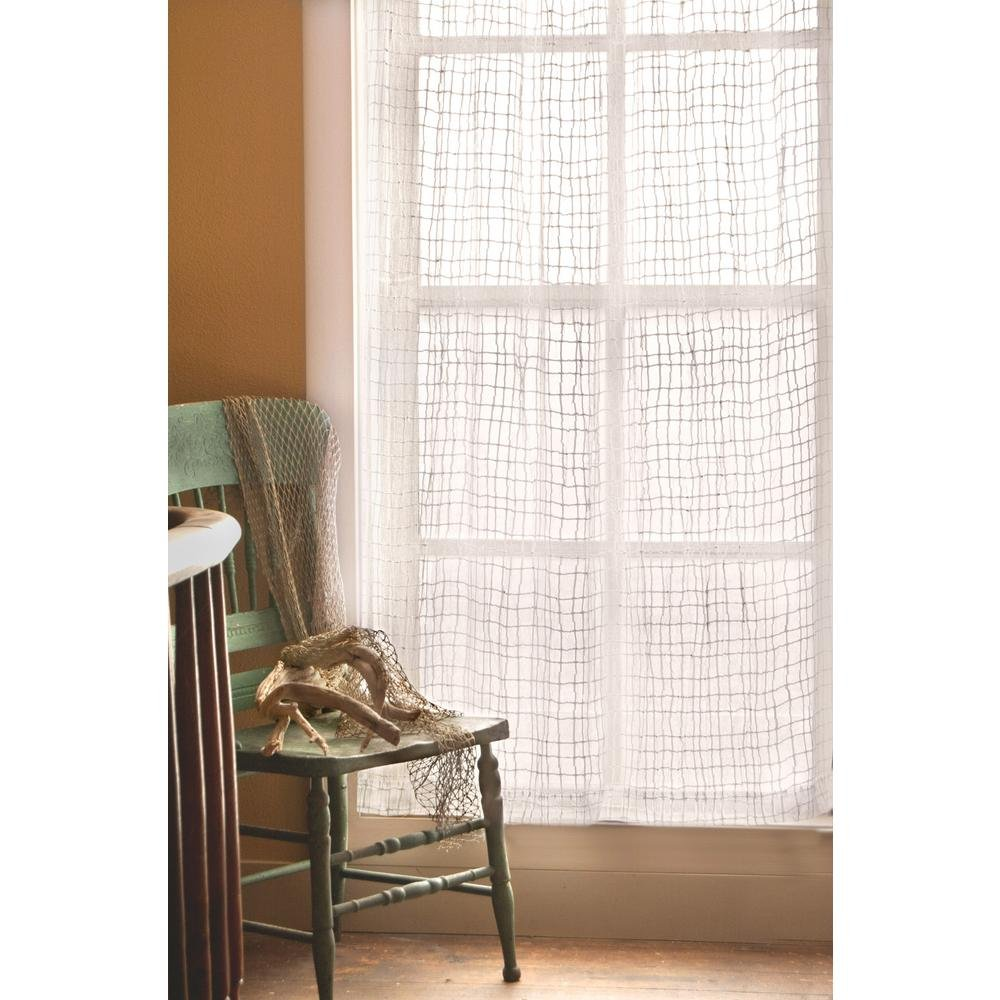 45 by 84-Inch Heritage Lace Seacoast Panel White 7225W-4584