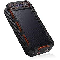 26800mAh Cargador Solar Portátil, Batería Externa, Salida 5V/3.2A*2 Panel Solar con Alta Eficiencia de Conversión…