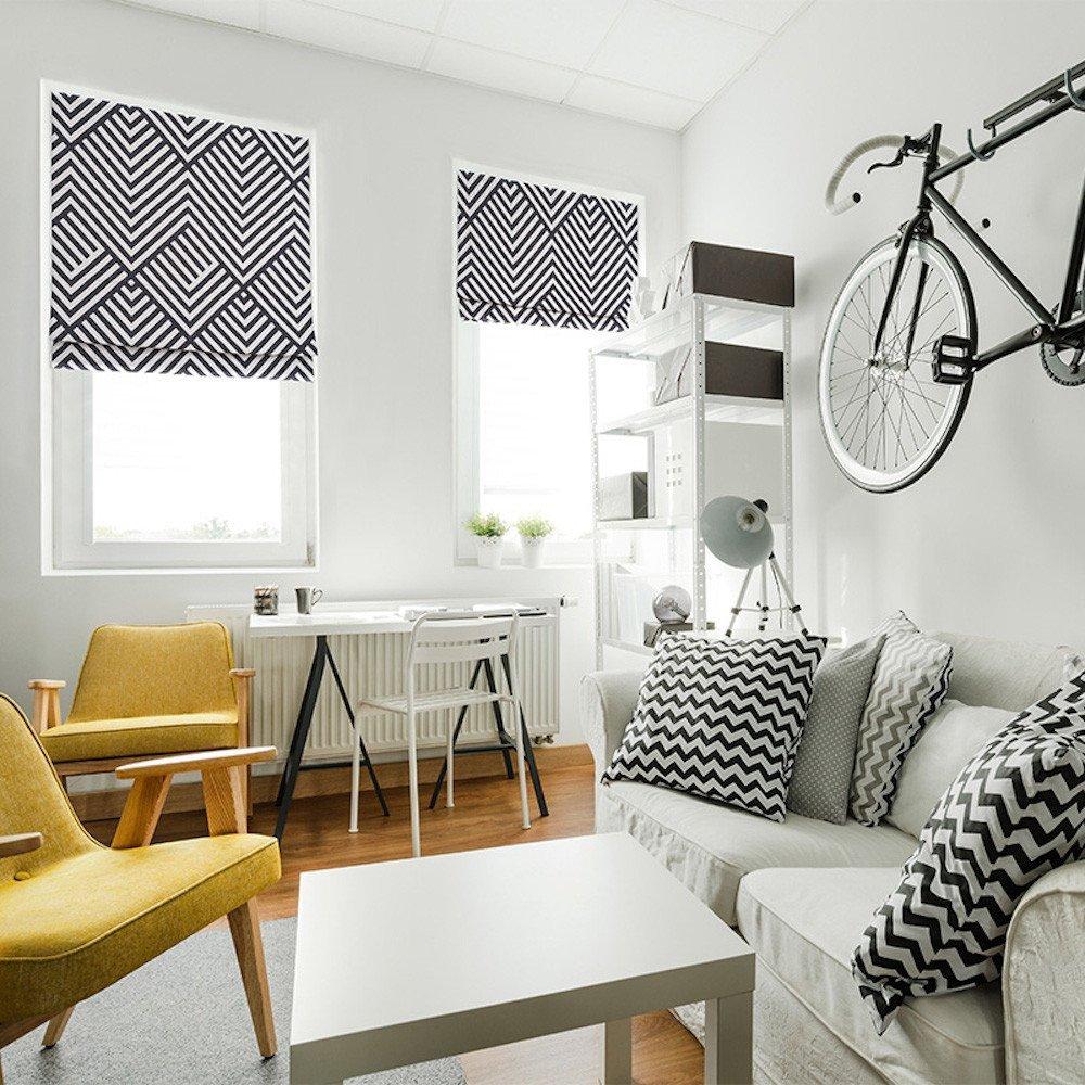 KARUILU home Quick Fix Washable Roman Window Shades Flat Fold, Custom any width from 14